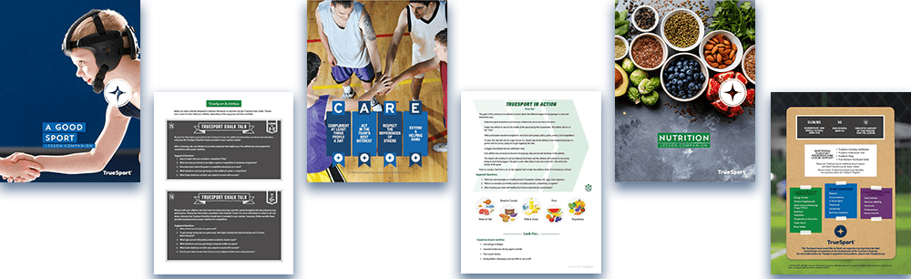 examples of pages from the TrueSport program lessons