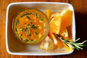 sliced oranges and immune shot