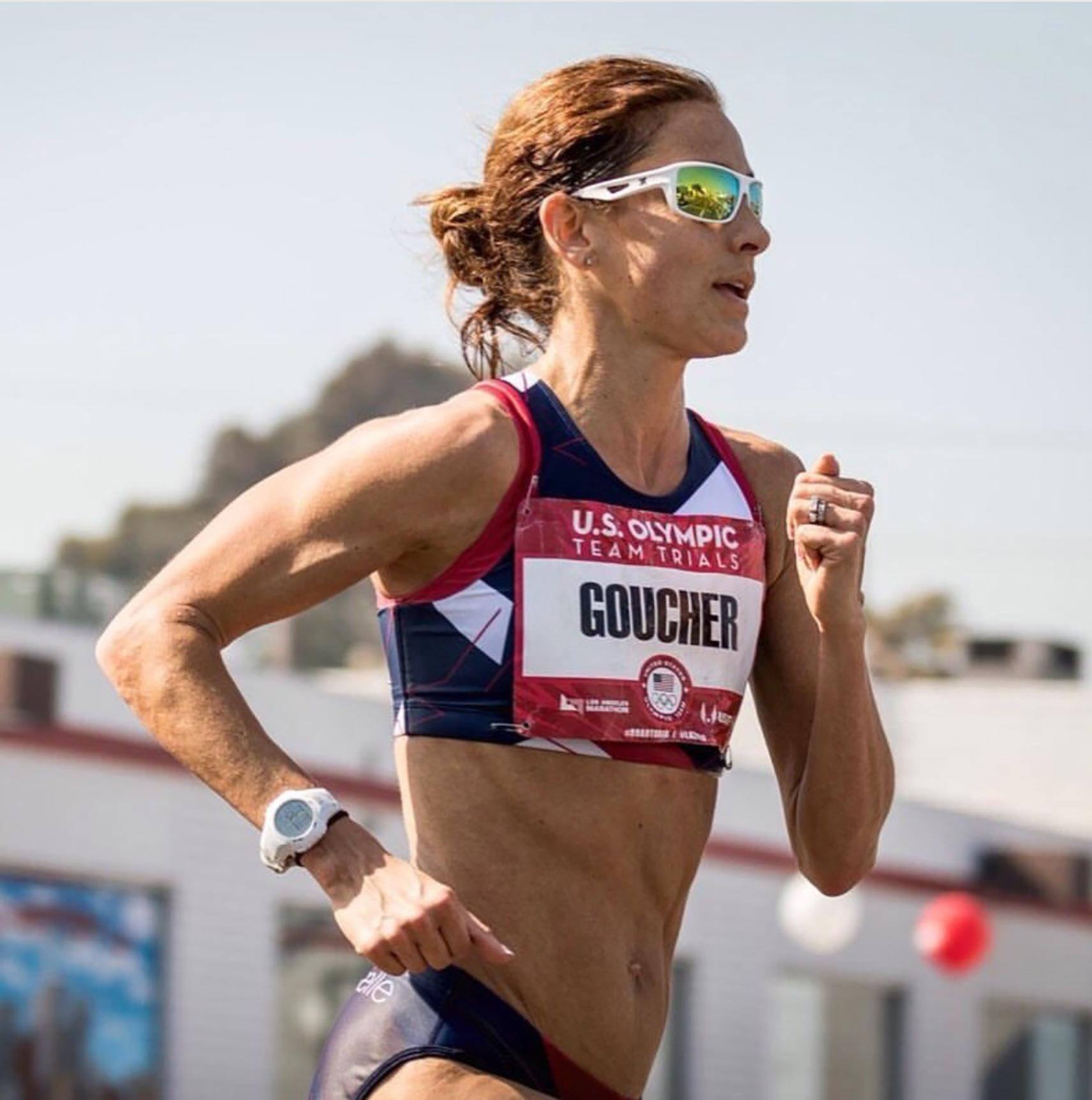 Kara Goucher running in the Olympic trials