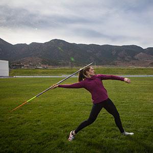 olympian kara winger throwing a javelin credit derek duncan