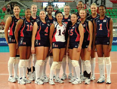 Candace Vering as captain of Team USA owmens indoor volleyball