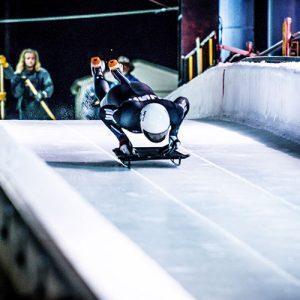stephen garbett on sled