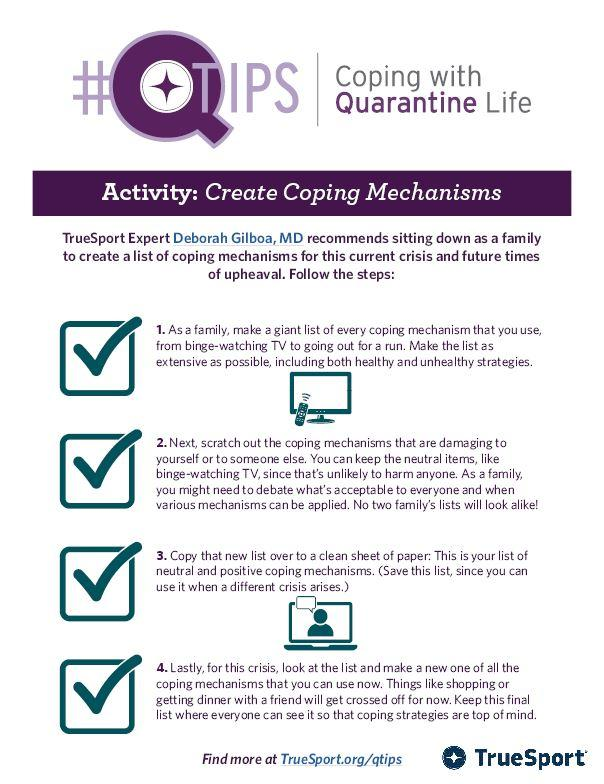 Create coping mechanisms infographic.