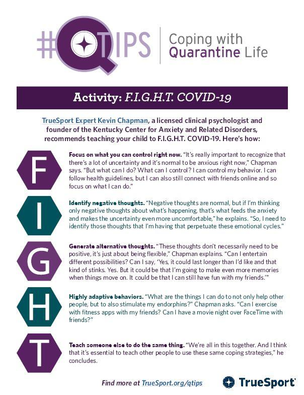 Smaller image of PDF Q Tip activity for FIGHTing Covid-19