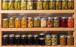 canned vegetables on shelf
