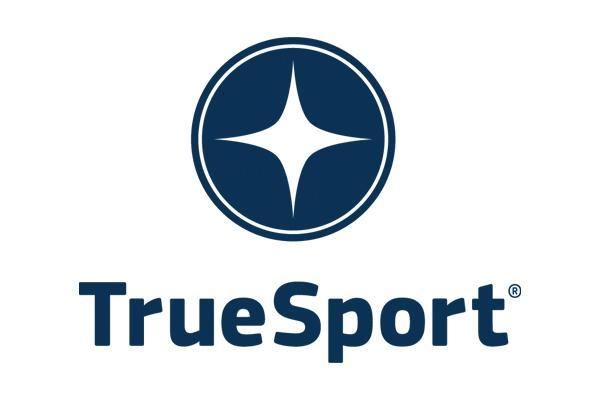 Blue TrueSport logo.