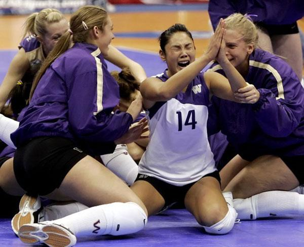 Candace Vering emotional after volleyball game with team