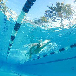 Underwater shot of Jordan Wilimovsky swimming.