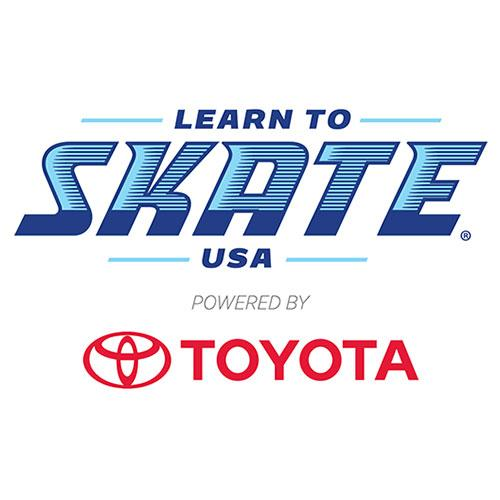 Learn to Skate USA powered by Toyota logo.
