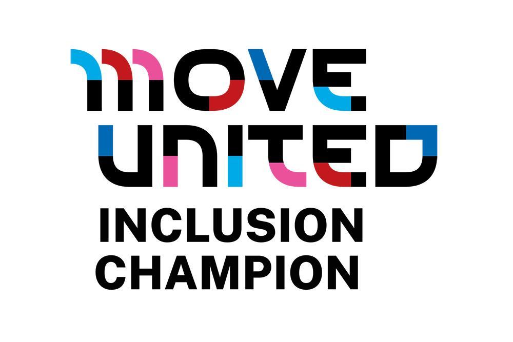 Move United Inclusion Champion logo.