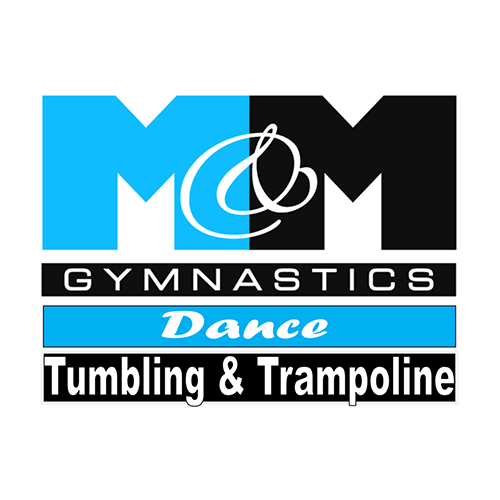 M&M Gymnastics logo.