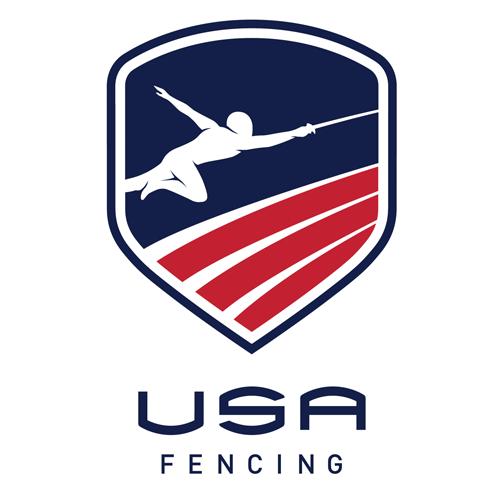 USA Fencing logo.