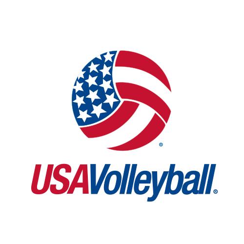 USA Volleyball logo.