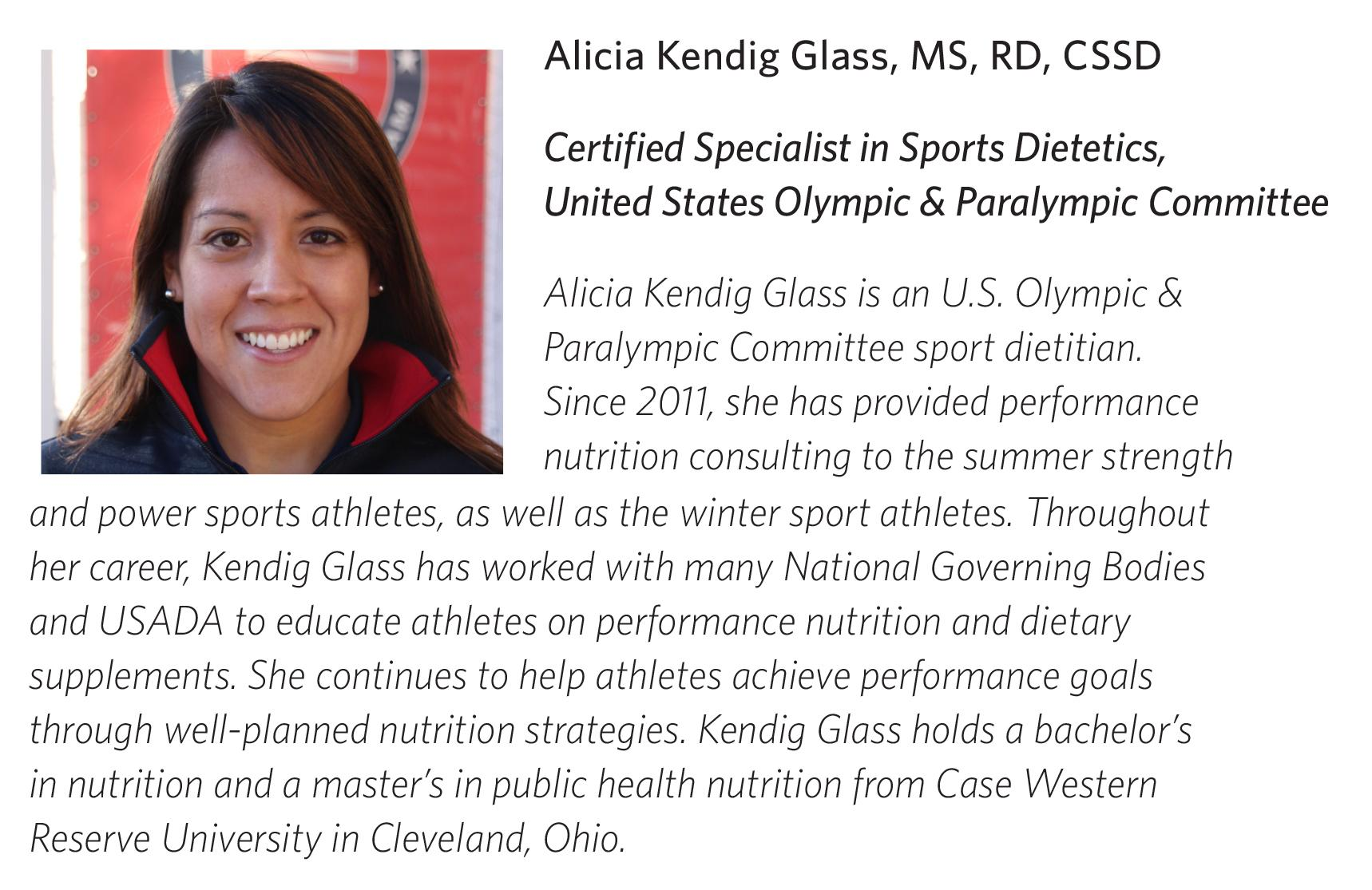 Bio and photo for nutritionist Alica Kendig.