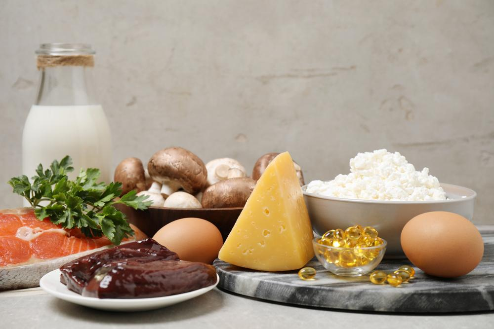 Table of foods that provide calcium and vitamin d.