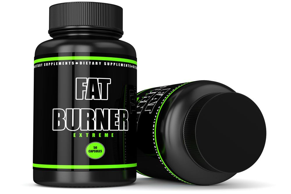 Fat burner dietary supplement container.