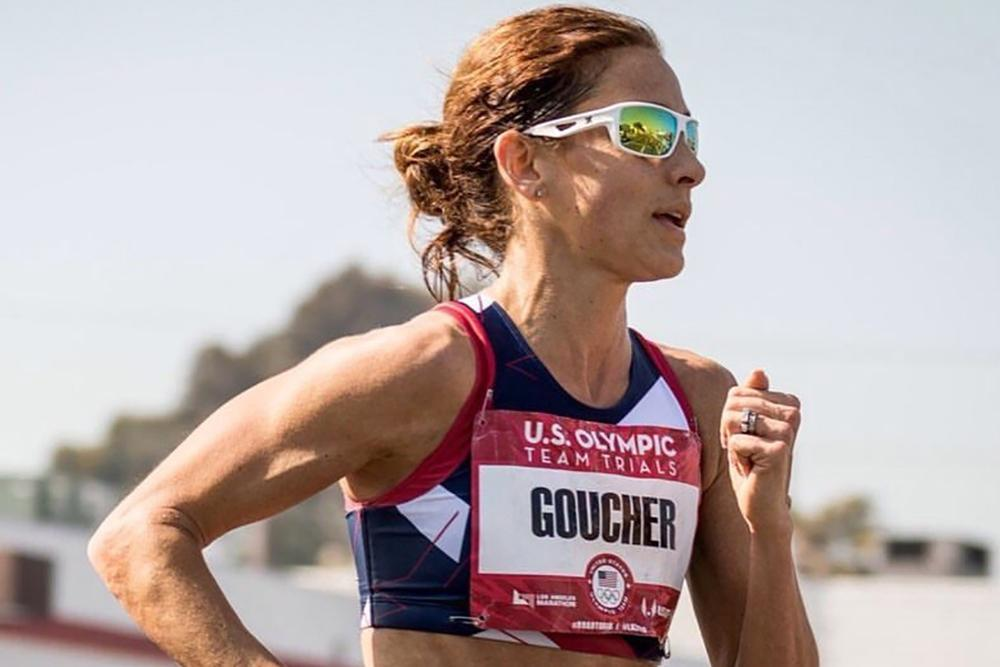 Kara Goucher running.