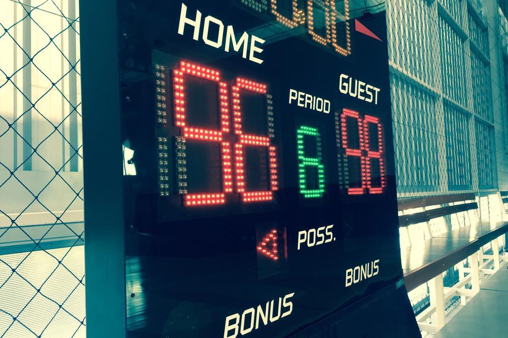 Sports scoreboard.