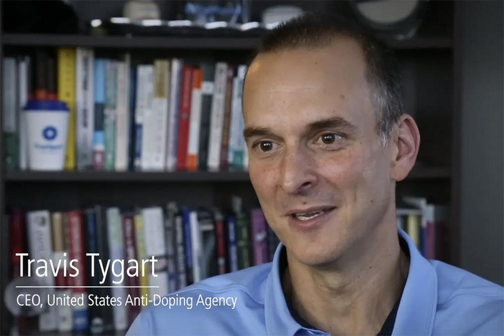 Travis Tygart video still.